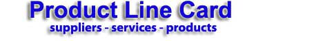Line Card image products services suppliers
